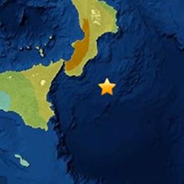 Terremoto, forte scossa nel Mar Ionio